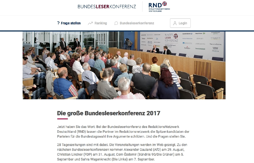 Bundesleserkonferenz (Screenshot)