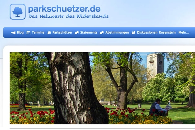 Website parkschuetzer.de (Screenshot)