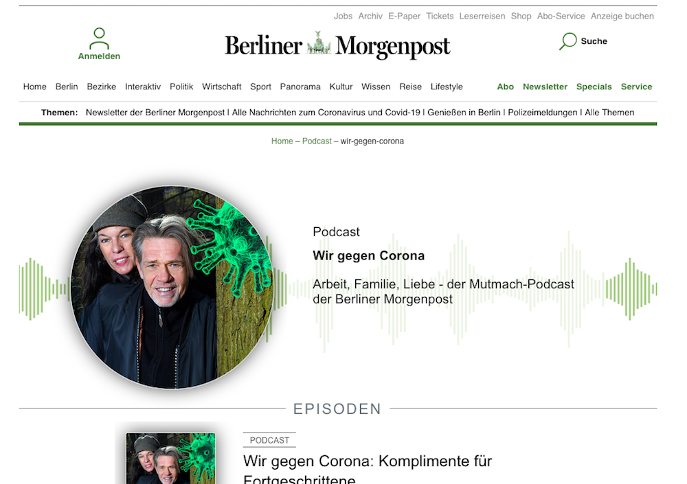 Der Mutmacher-Podcast. (Screenshot: Morgenpost)