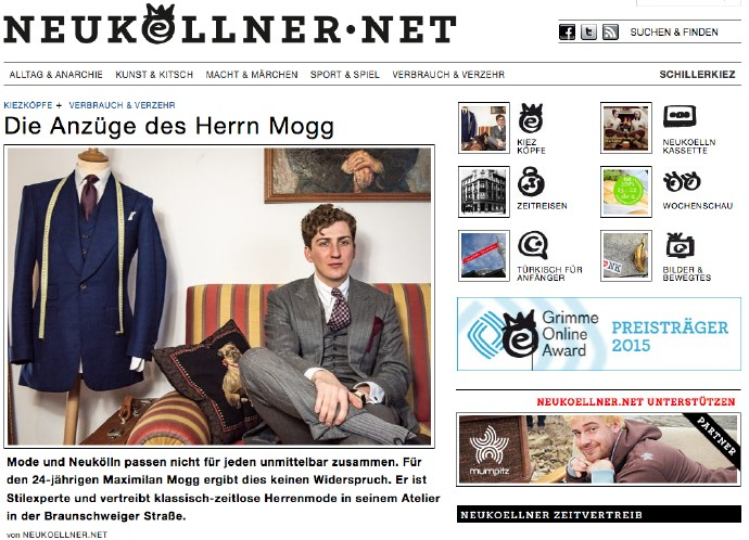 Screenshot des Blogs Neukoellner.net