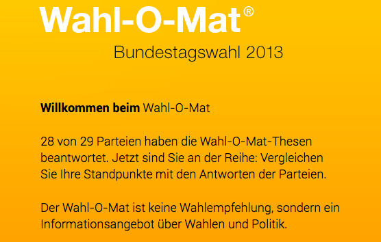 Screenshot des Wahl-O-Mats