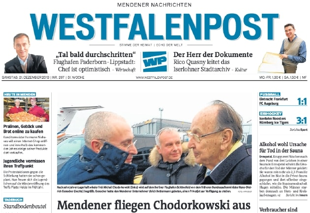 Cover der Westfalenpost