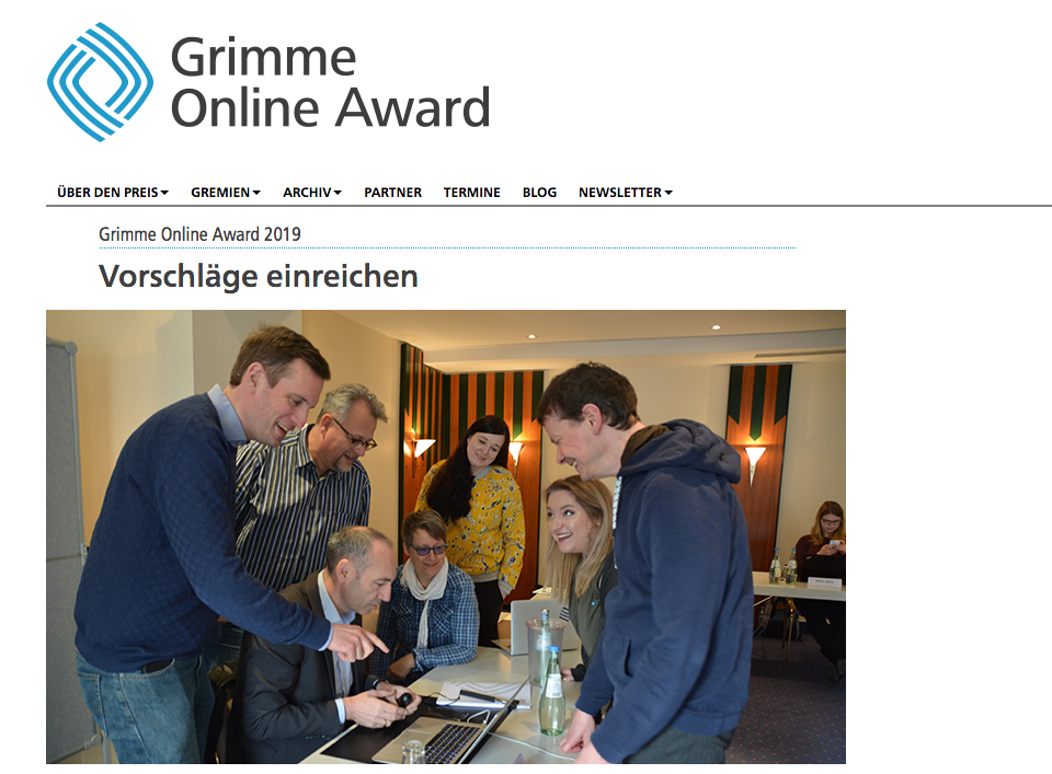 Foto: Screenshot Grimme Online Award