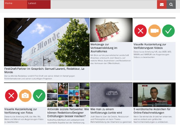 Screenshot von Firstdraftnews.com