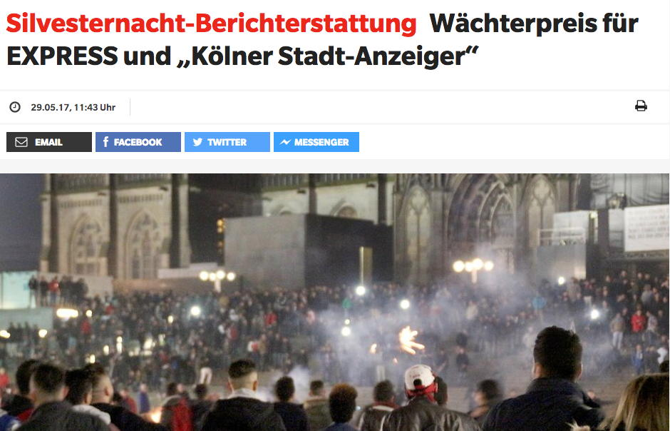 Screenshot von Express.de