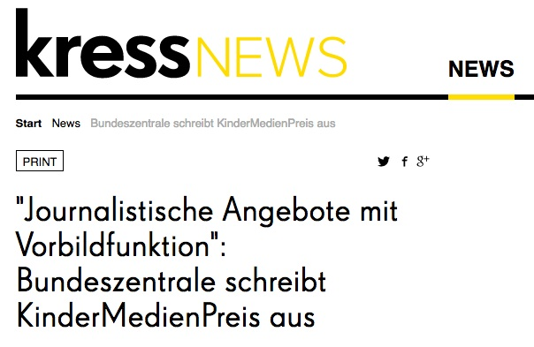 Screenshot der verlinkten Webseite